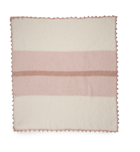 Cozychic Pink Striped Receiving Blanket