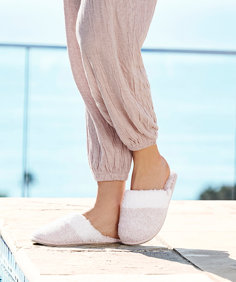 Cozychic Dusty Rose Malibu Slippers