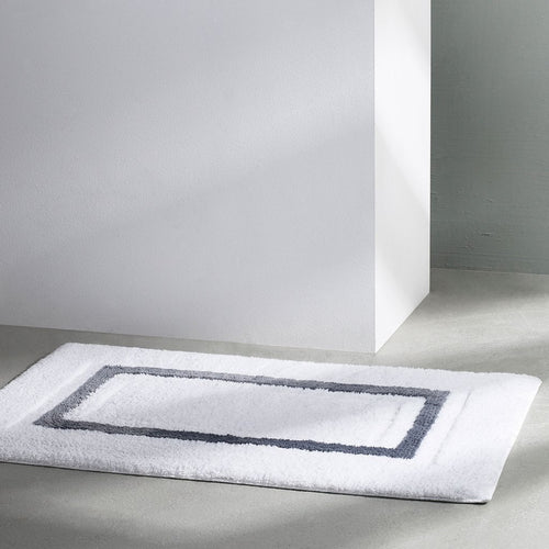 Framed Stripe Bath Rug