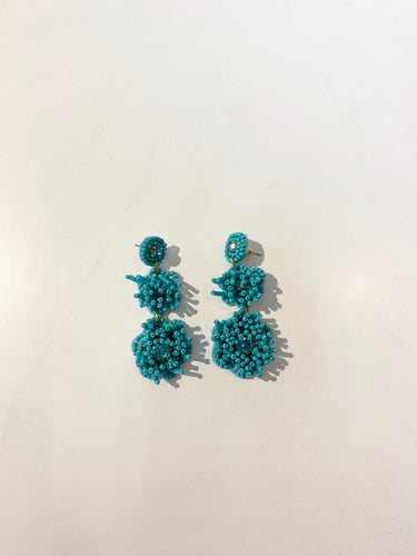 Aqua Beads Earrings