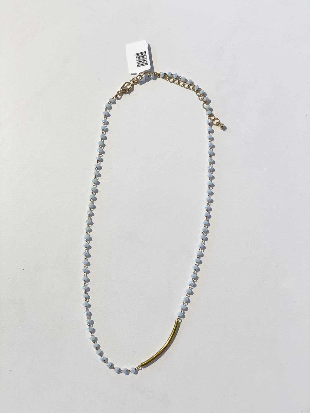 Light Grey/Gold Bar Necklace