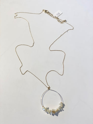 Gold Round Wire Necklace