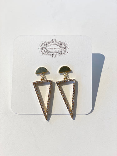 Gold Half Circle Post Earrings