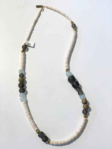 Taupe/Clear Mix Necklace