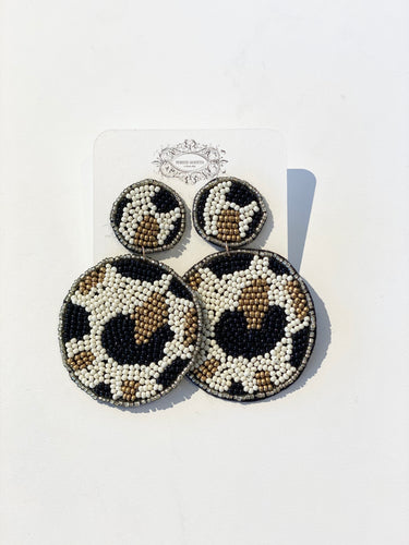 Douglas Round Animal Earrings