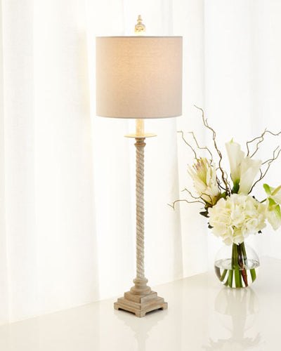Shalimar White Gold Twist Lamp