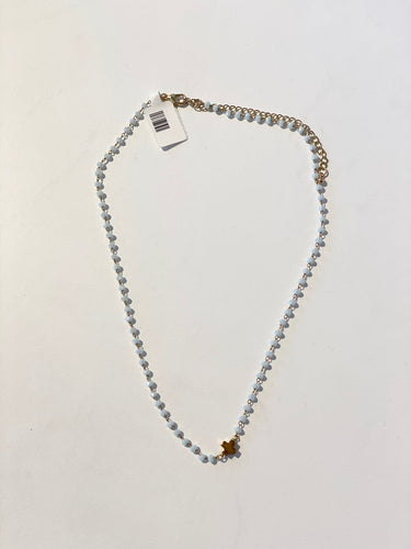Light Gray Rosary Necklace