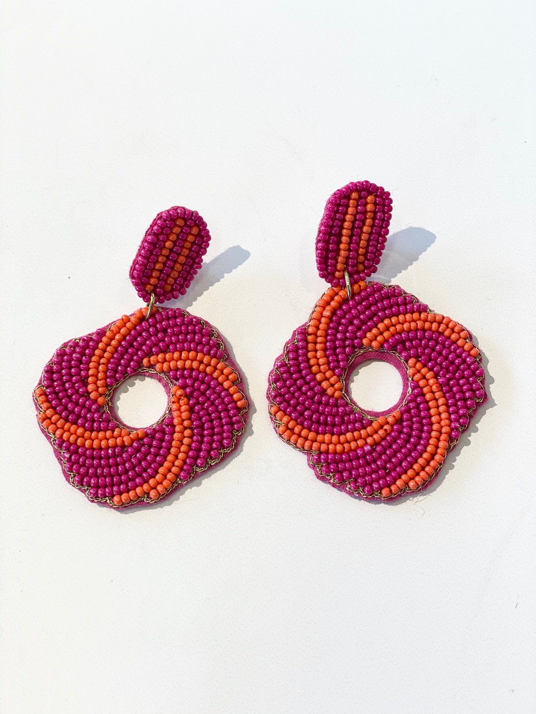 Fuchsia Tornado Earrings