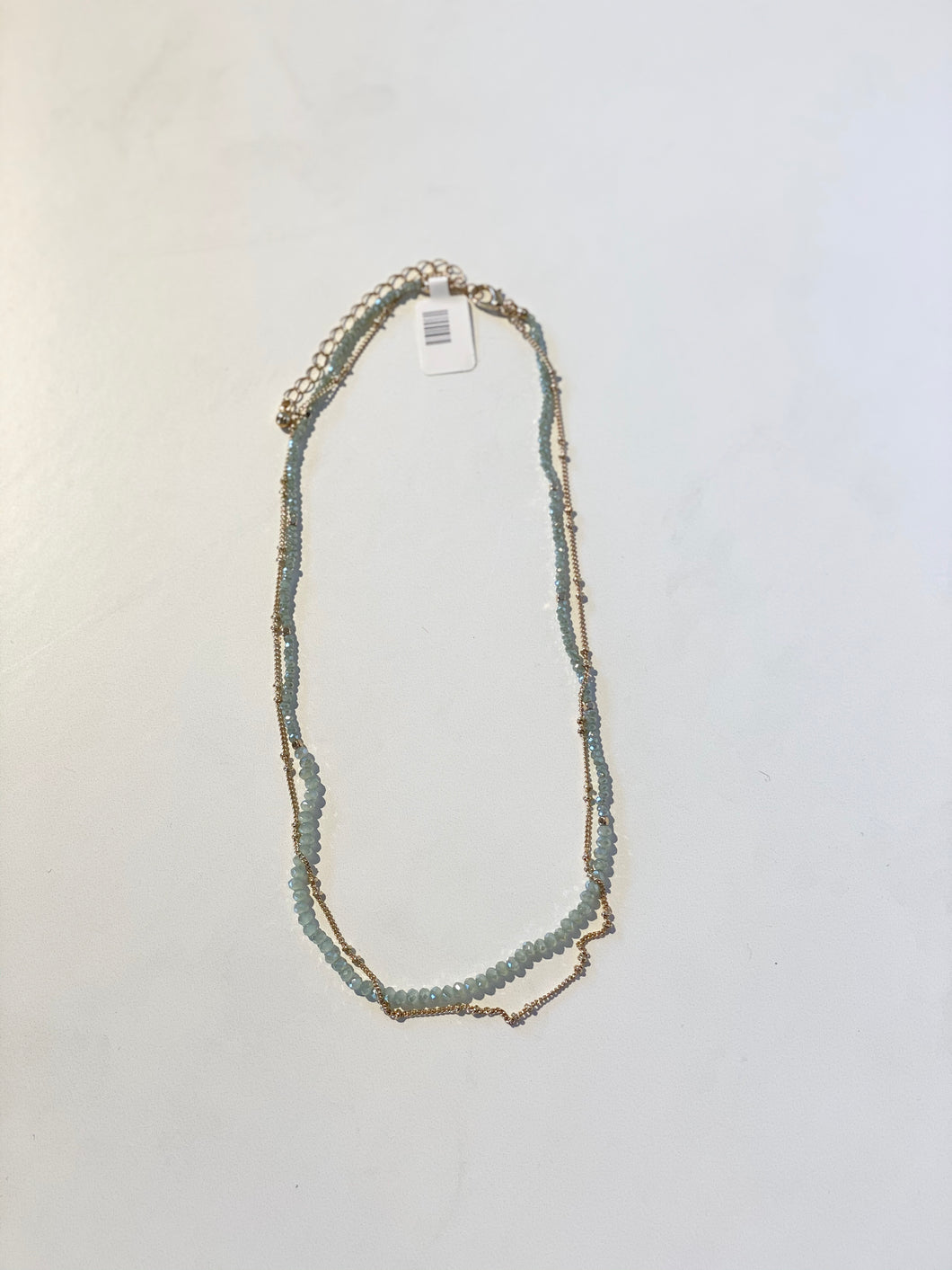 Chain and Mint Necklace