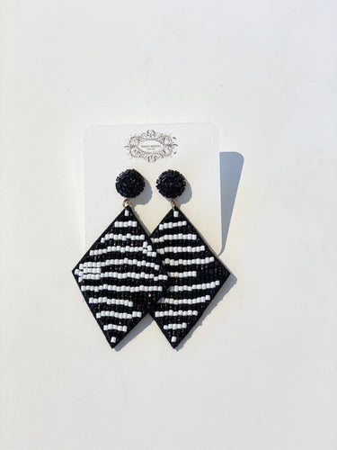 Black/White Multi Earrings
