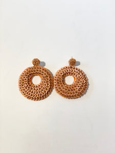 Orange Ring Shape Earrings