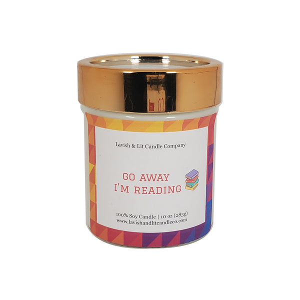 Go Away I'm Reading - Scented Candle