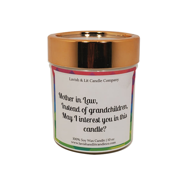 Funny Candle for Mother in Law - Scented Candle