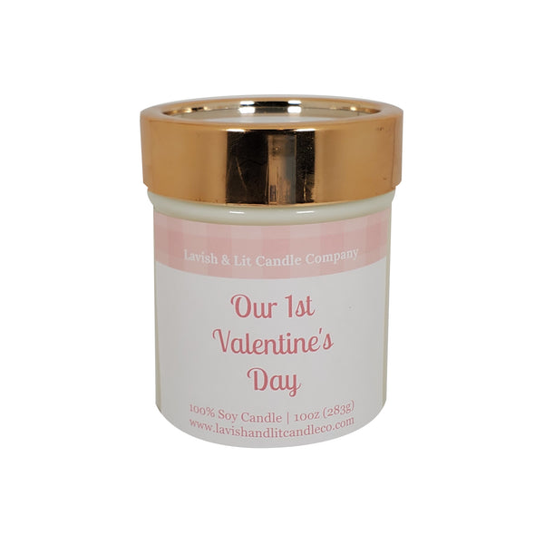 Our 1st Valentine's Day - Scented Candle