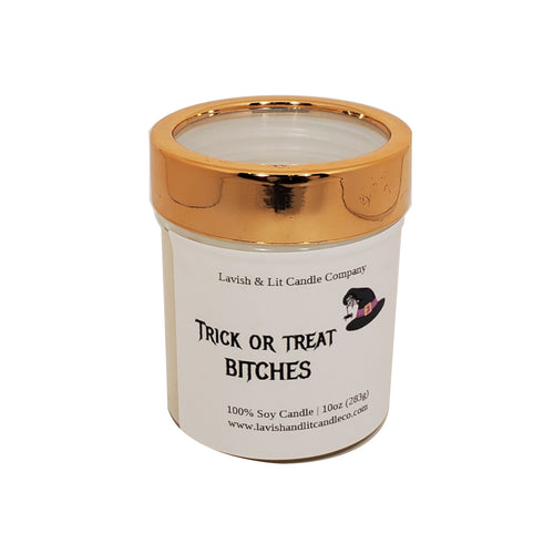 Trick or Treat Candle - Funny Halloween Decor, Halloween Candle
