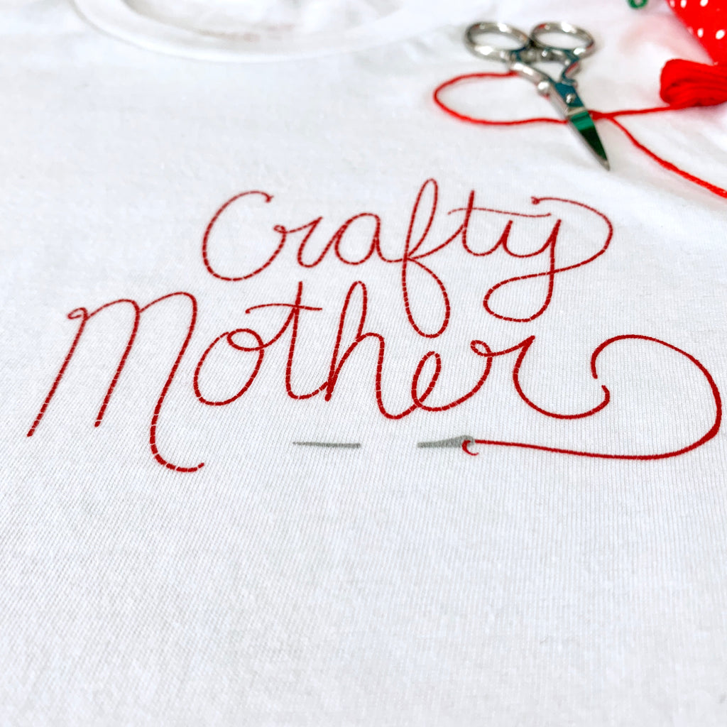 Crafty Mother Tee shirt