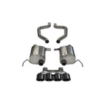 Corvette CORSA Sport Exhaust System - Quad Round Tips - Black : C7 ZR1