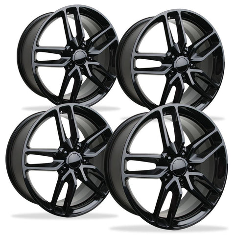 2014 C7 Corvette Z51 Style Reproduction Wheels (Set) : Gloss Black-Reproduction Wheels-Factory Reproductions