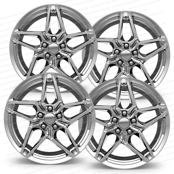 2018 C7 Corvette ZR1 Style Reproduction Wheels (Set) : Chrome-Reproduction Wheels-Factory Reproductions