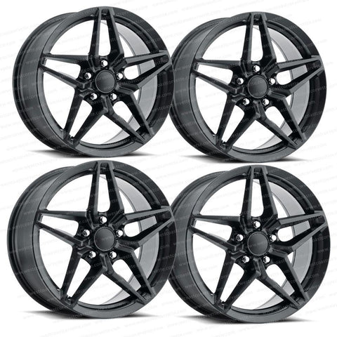 2018 C7 Corvette ZR1 Style Reproduction Wheels (Set) : Satin Black-Reproduction Wheels-Factory Reproductions