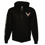 C8 Corvette Born in the USA American Legacy Zip Up Hoodie Jacket - Black