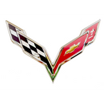 "Corvette Flags Metal Wall Sign - 22"" x 15"" : C7 2014–2019"