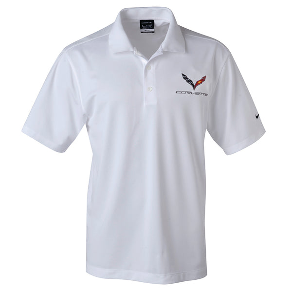 C7 Corvette Polo - Men's Nike Dri-Fit Performance Polo : Black, White or Pro Red