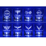 Corvette Glassware Engraved Generations C1-C8 : 13.5 oz. Set of 8