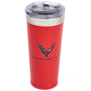 Next Generation Corvette Polar Tumbler 20 oz Multi-Colored Logo : Red Powder Coated