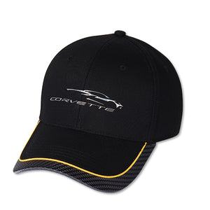 Next Generation Corvette Hat/Cap - Gesture Logo Yellow Stripe