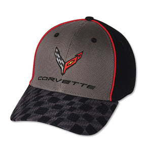 Next Generation Corvette Hat/Cap - Carbon Flash Checkered Bill