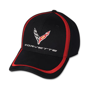 Next Generation Corvette Hat/Cap - Red Stripe Accent