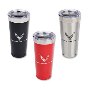 Next Generation Corvette Polar Tumbler 20 oz Contrast Colored Logo