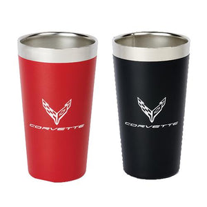 Next Generation Corvette Omni Steel Pint Contrast Colored Logo