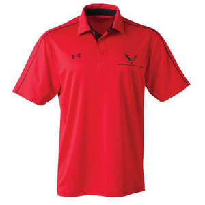 Next Generation Corvette Men's Under Armour Tech Polo : Red