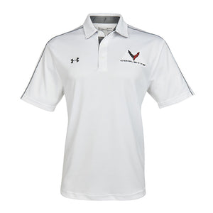 Next Generation Corvette Men's Under Armour Tech Polo : White