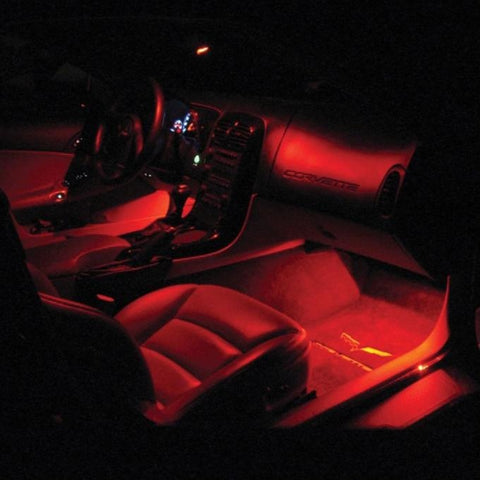 C6 Corvette - Footwell LED Lighting Kit : 2005-2013 C6, Z06, ZR1, Grand Sport-Interior Lights-Custom LED Lighting