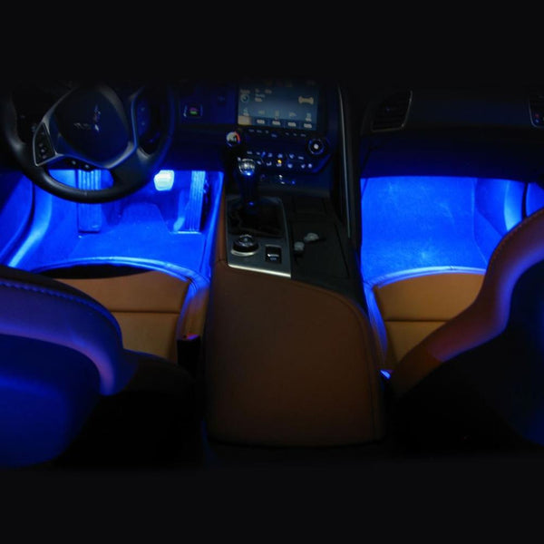 C7 Corvette - Footwell LED Lighting Kit : Stingray, Z51, Z06, Grand Sport, ZR1-Interior Lights-Custom LED Lighting