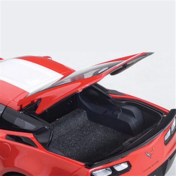 C7 Corvette Grand Sport - Red w/White Stripe, Black Fender : Die Cast 1:18-Models & Collectables-AUTOart/Gateway Global, Inc.
