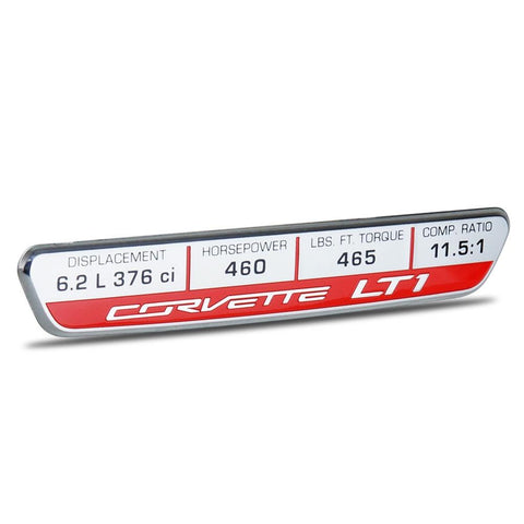 C7 Corvette Stingray Interior Dash Trim Badge - LT1 Performance Logo-Dash Kits & Accessories-Chevrolet