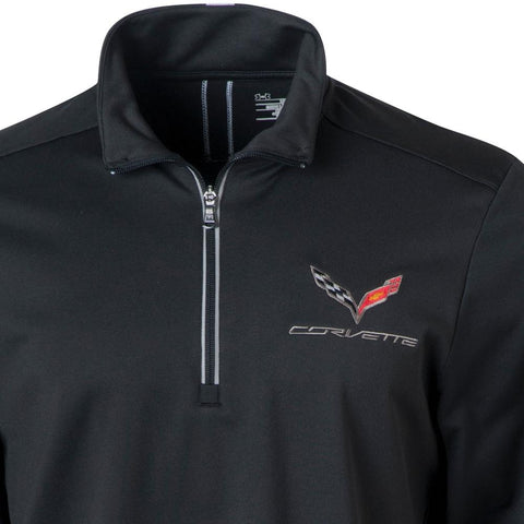 C7 Corvette Under Armour Qualifier Quarter Zip Jacket : Black-Jackets-Ralph White Merchandising