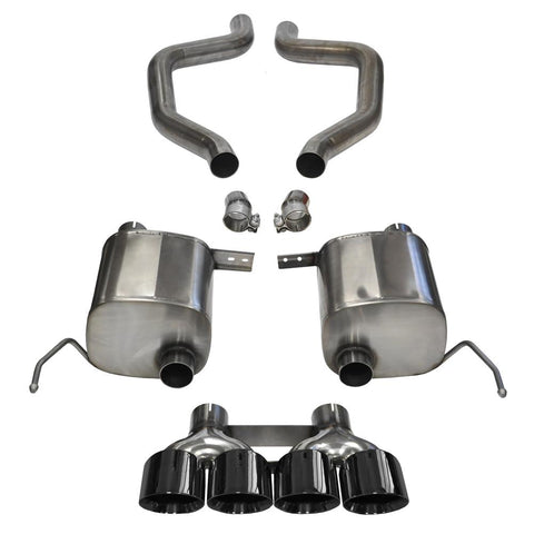 "C7 Corvette Z06 Exhaust - CORSA SPORT Axle-Back Performance Exhaust System : Quad 4.50"" Round Black Tips-Exhaust System-Corsa Exhaust"