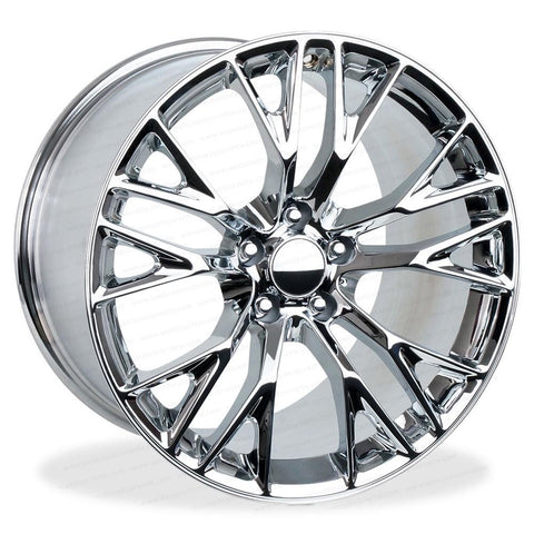 C7 Corvette Z06 Style Reproduction Wheels (Set) : Chrome-Reproduction Wheels-Factory Reproductions