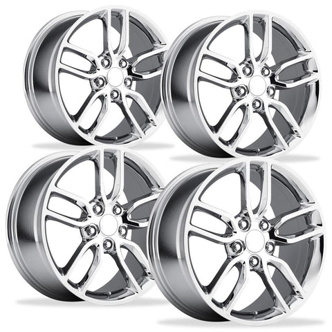 C7 Corvette Z51 Style Reproduction Wheels (Set) : Chrome-Reproduction Wheels-Factory Reproductions