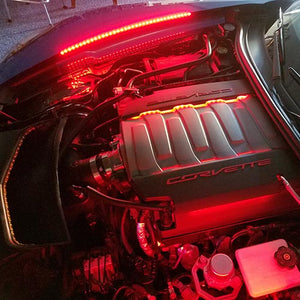 Corvette Complete Engine Bay Lighting Kit - RGB: C7 Stingray, Z51, Grand Sport