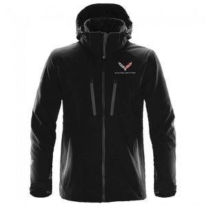 C7 Corvette Men's Extreme Soft Shell Jacket : Black