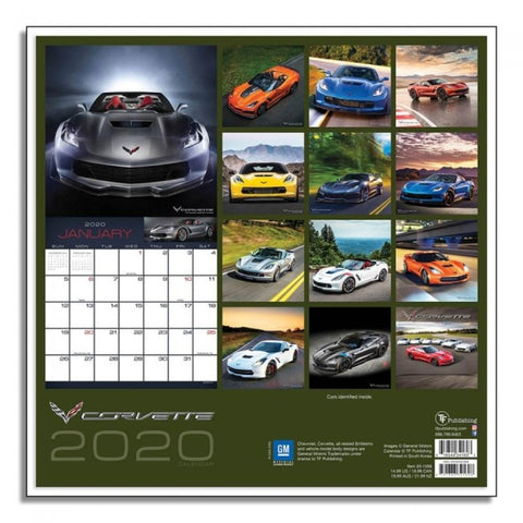Corvette 12 Month 2020 Calendar-Books & Manuals-Burston Marketing