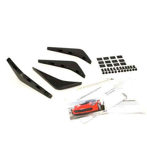 Corvette ACS Rear Diffuser Fins (Set of 4) - Carbon Flash : C7 Stingray, Z51, Z06, Grand Sport-Body Kits & Ground Effects-ACS Composite