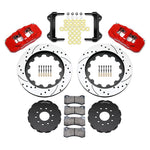Corvette AERO6 Front Big Brake Kit - Drilled-Slotted 14.25 inch - Wilwood - Red : 2005-2013 C6-Brake Pads-Wilwood