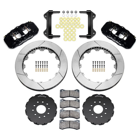 Corvette AERO6 Front Big Brake Kit - Slotted 15 inch - Wilwood - Black : 2005-2013 C6-Brake Pads-Wilwood